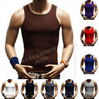 3  Big &Tall 100% Cotton Men's A-Shirt GYM T-Shirt Ribbed Muscle Tank Top S-5X image