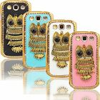 New Fancy 3D Bling Owl Case for Samsung Galaxy S3 T999 Rhinestones Hard Cover