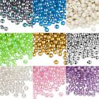 Huge Lot of 950 Plastic Acrylic 6mm Round Smooth Beads with 2mm Hole