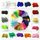 2 / 25 / 50 / 100 Organza Bags / Jewellery Pouches 8x11cm To 9x12cm Uk Seller