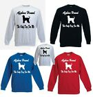 Afghan Hound The Only Dog For Me Printed FOTL Sweatshirt Various Colours