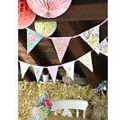 4m Floral Paper Bunting, Vintage, Afternoon Tea, Charming Chintz, Birthday Party