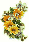 Ceramic Decals NICOLE Yellow Daisy Floral Flower