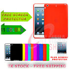 Silicone Rubber Case Cover Soft Gel Skin for iPad Mini FREE Screen Protector