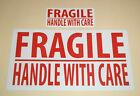 FRAGILE PLEASE HANDLE WITH CARE Self Adhesive Stickers / Sticky Labels