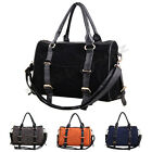 Ladies Womens Boutique Style Faux suede Leather Shoulder School Handbag Bag