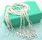Wholesale Hot gift fashion Silver Snake Chains necklace 1mm 16inch-24inch