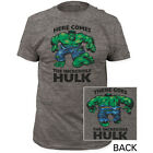 Here comes The Incredible Hulk TRI-BLEND SOFT 2 sided T-shirt top Marvel Comics
