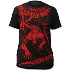 The Amazing Spider-Man Marvel Comic 100 Cover Artwork All Over Front T-shirt top