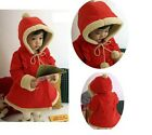 Baby Girls Winter Warm Jacket Kids Christmas Hoodies Coat 6M-5Y Outerar Snowsuit