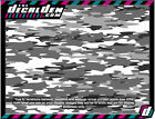 Arctic Winter Army Camo Vehicle Wrap Panel Camouflage snow Traditional Decal Den