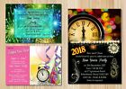 Christmas Party New Years Eve Halloween Multi Seasonal Invites + Free Envelopes