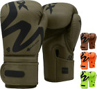 RDX Rex Leather Boxing Gloves Fight Punch Bag MMA UFC Muay Thai Grappling Pads C