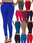NEW Fleece Lined Skinny Leggings Stretch Solid Colors Winter Warm Pants One-Size