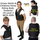 ENGELS SPORTS UNISEX HORSE RIDING BODY PROTECTOR JUMPING HACKING CROSS COUNTRY