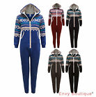 KIDS BOYS HOODED JUNIOR AZTEC PRINT ALL IN ONE JUMPSUIT ONE SET PYJAMAS AGE 8-14