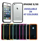 Stylish Bumper Case Rim Cover For iPhone 5/5G 5S With LCD Screen Protector Film