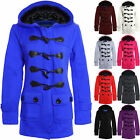 New Ladies Duffle Hooded Trench Women's Pocket Coat Jacket