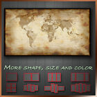 Vintage World Map Grunge Abstract Modern Canvas Wall Art Deco More Size & Color