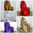 1 SAMPLE Universal SATIN Self Tie for any kind of CHAIR COVER Wedding - 8 Colors