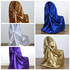 50 Universal Self Tie SATIN CHAIR COVERS for any kind of CHAIRS LeilaniWholesale