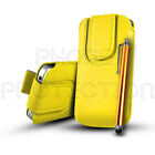 PU Leather Button Pull Tab Pouch Case Cover & Stylus For Various Nokia Phones