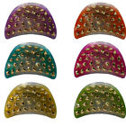 Claw Clips Hair Accessory Women or Girls Jaw Clips Great Colors with Gold Studs