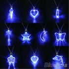 10 Style LED Blue Magnetic Light Charm Pendant Necklace Gift Xmas Party Hot BD5U