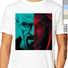 HEISENBERG VS DEXTER T-Shirt. Walter White Breaking Bad and Dexter Face Mash Up