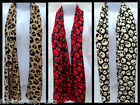 BLACK LADIES SOFT FEEL SKULL & CROSS BONE PRINT SCARF 160cm x 40cm UK SELLER