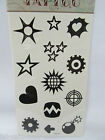 Quality black shapes stars hearts target bomb wheel Temporary Tattoos UK Seller