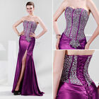 Luxury Sequins Sexy Slim Ball Gown Formal Evening Prom Party Long Wedding Dress