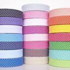 5m Metre of 30mm Polka Dot Bias Binding Extra Wide Quilting Tape 22 Colours