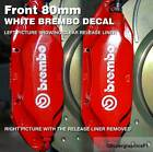 Brake caliper decal Sticker for Brembo brake calipers 80mm Colour White Unit 2