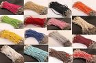 Wholesale 10pcs/100pcs pink/red/blue braid rope man-made leather for craft 19cm