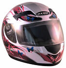 Oxide Pink Butterfly Full Face Motorbike Safety Helmet, (Raider)