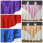 "10 Pack 60"" Square SATIN Overlays Wedding Party Decorations - Free Shipping SALE"