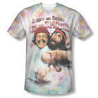 Cheech & Chong Up in Smoke Movie Fried Sublimation ALL OVER Vintage T-shirt top