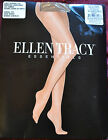 Ellen Tracy Essentials Pantyhose Light Support Leg Sandal Toe Made in USA NIP