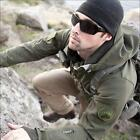 TAD Style Unisex Soft Shell Shark Skin Tactical Heavy Fleece Hoodie Jacket