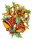 Ceramic Decals CHRISTMASTIDE Vintage Designs Holly Candle Wreath Christmas image