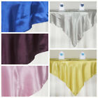 "15 pcs 72x72"" Square SATIN Table Overlays Wedding Linens for Reception Wholesale"
