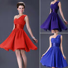 Pleated Formal Bridesmaid Prom Ball Gown Evening Cocktail Party Lady Short Dress