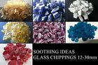 1kg Glass Chippings Various Colours 5-23mm Home Garden Weddings Aquarium Mosaics