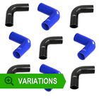Blue Black 90 Degree Hoses - Silicone/Silicon Elbow Bend Rubber/Coolant/Radiator