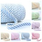 BY THE 25m ROLL  - CANDY STRIPE PICOT LACE CROCHET EDGE BIAS BINDING striped