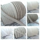BY THE METRE - PICOT LACE EDGE NATURAL LINEN & COTTON EUROPEAN BIAS BINDING
