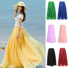 2013 HOT New Stylish Women Ladies Girl Chiffon Vintage Retro Long Skirt 7 Colors