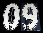 Premier League 2007/12 White Lextra Senscilia Football Shirt Numbers 0-9