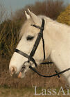 Heritage English Leather Hunter Bridle, Plain Brow/Noseband, Inside Grip Reins